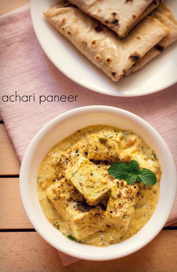achari paneer recipe, how to make achari paneer masala recipe