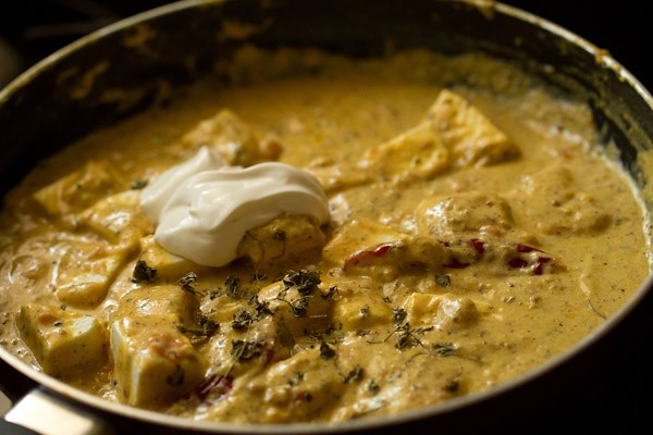 cream for achari paneer recipe