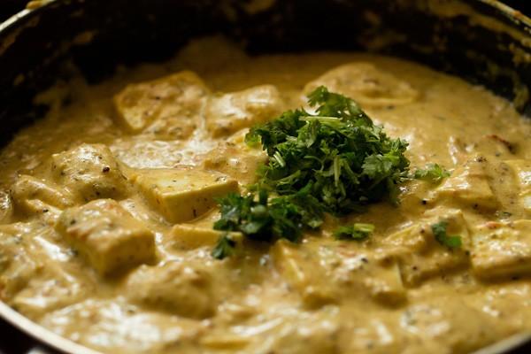 coriander for achari paneer recipe