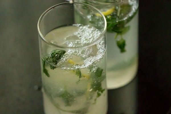 soda for basil lemon mojito recipe