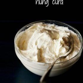 hung curd, hung yogurt