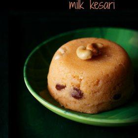 milk kesari recipe, milk kesari