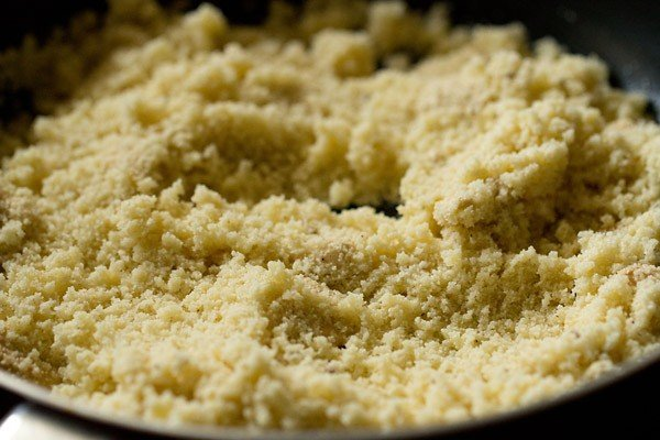 roasting rava for milk kesari recipe
