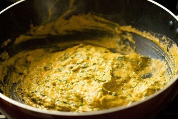 stir methi malai paneer recipe