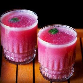 pomegranate mint cooler recipe, pomegranate mint juice recipe