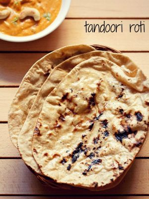 tandoori roti recipe, how to make tandoori roti on tawa | butter roti