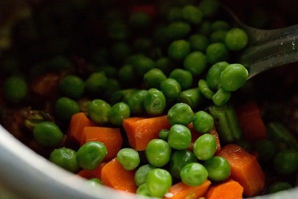 vegetables for tomato pulao recipe