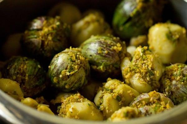 brinjals for undhiyu recipe