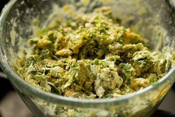 preparing muthia for undhiyu recipe