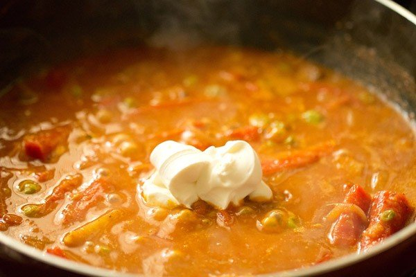 cream for vegetable kadai recipe