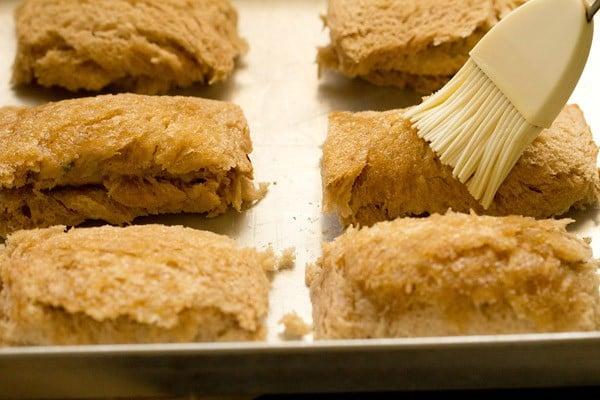baking bread rolls