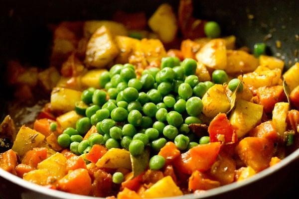 peas for bombay biryani recipe