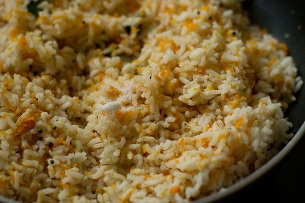 salt for carrot rice recipe
