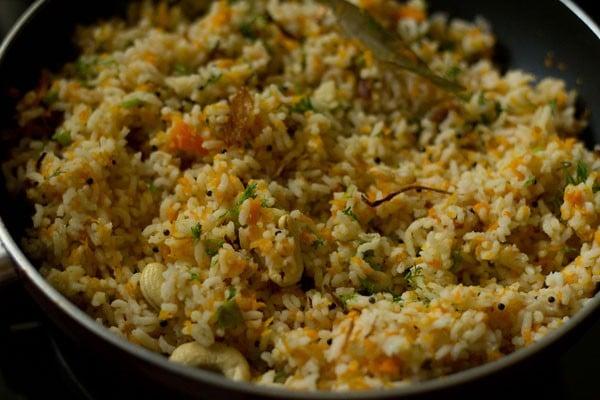 mix carrot rice recipe