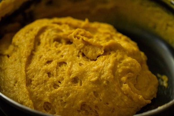 eggless mango cake batter