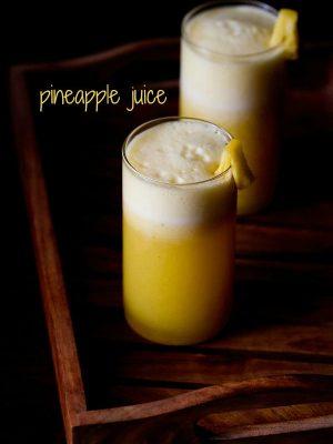 fresh pineapple juice recipe, pineapple juice recipe