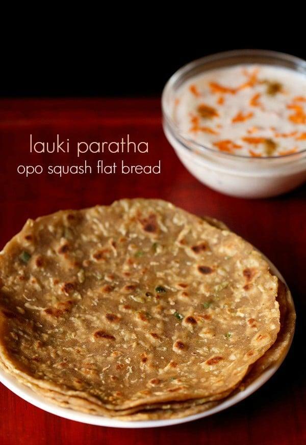 lauki paratha recipe, how to make lauki paratha | doodhi paratha