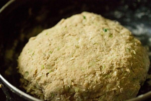 doodhi paratha dough, lauki paratha dough