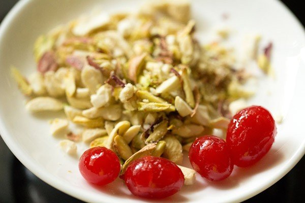 cherries for mango mastani recipe