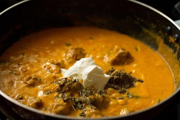 cream for mushroom tikka masala recipe