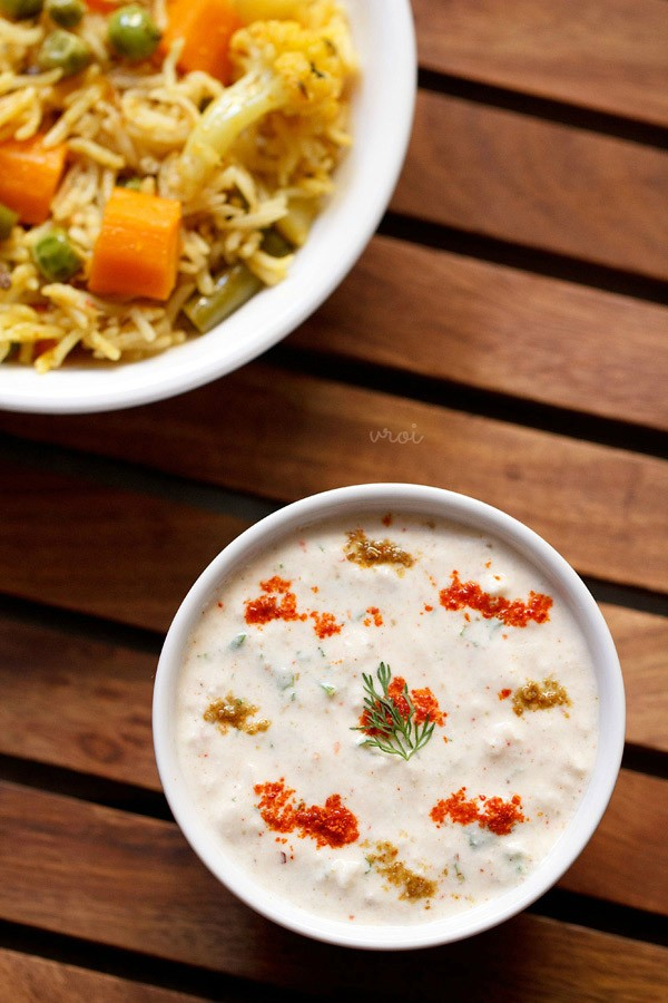 makhana raita recipe, phool makhana raita recipe
