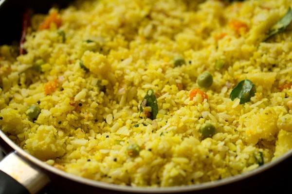 making poha upma recipe