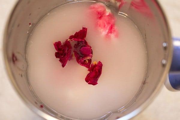 rose petals for rose lassi recipe