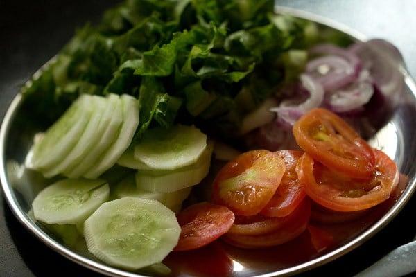 veggies for veg burger recipe