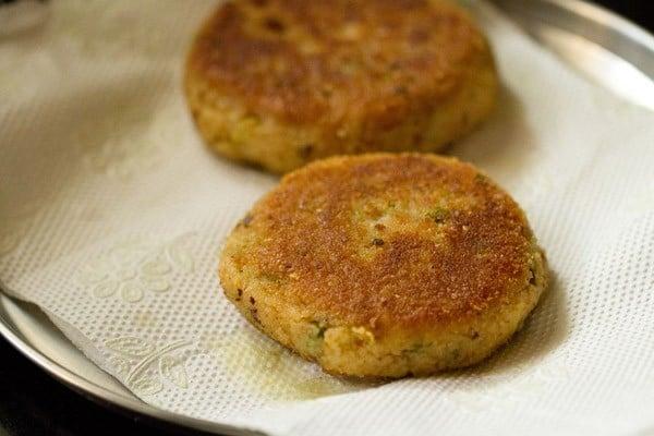 frying patties for veg burger recipe