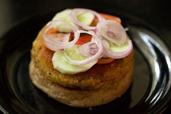 making veg burger recipe