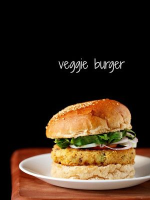 veg burger recipe, how to make veg burger recipe | veggie burger recipe