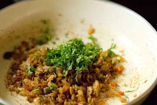 coriander for veggie burger recipe