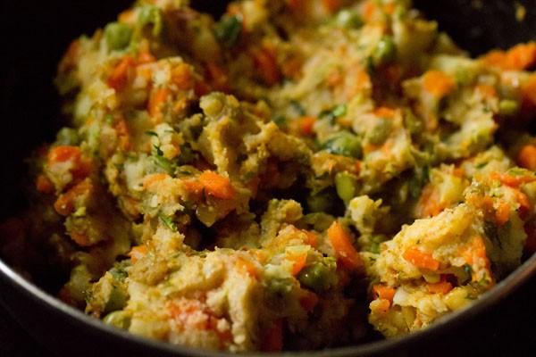 veggie mixture for veggie burger recipe
