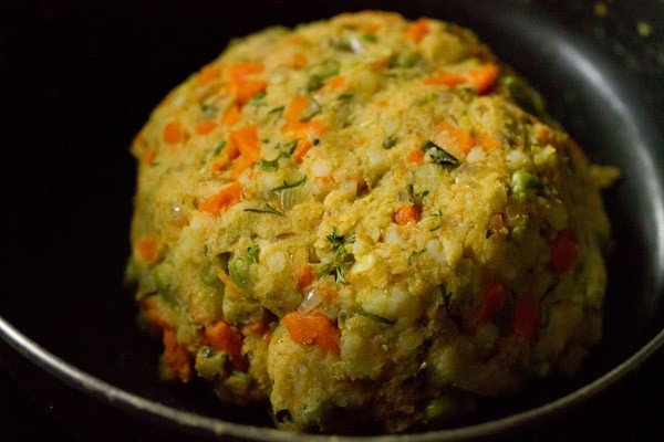 veg mixture for veggie burger recipe
