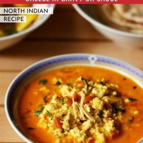 Paneer Bhurji Gravy in a bowl