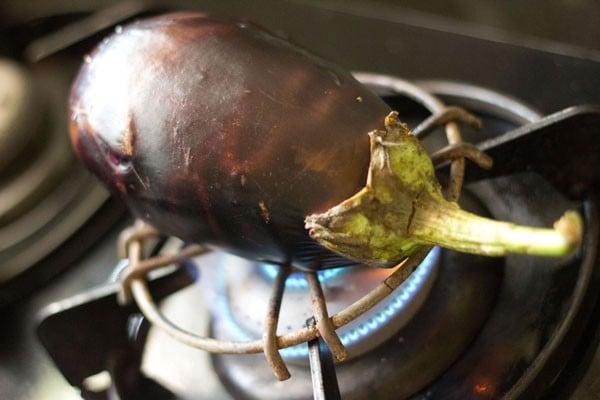 baingan for baigan chutney recipe