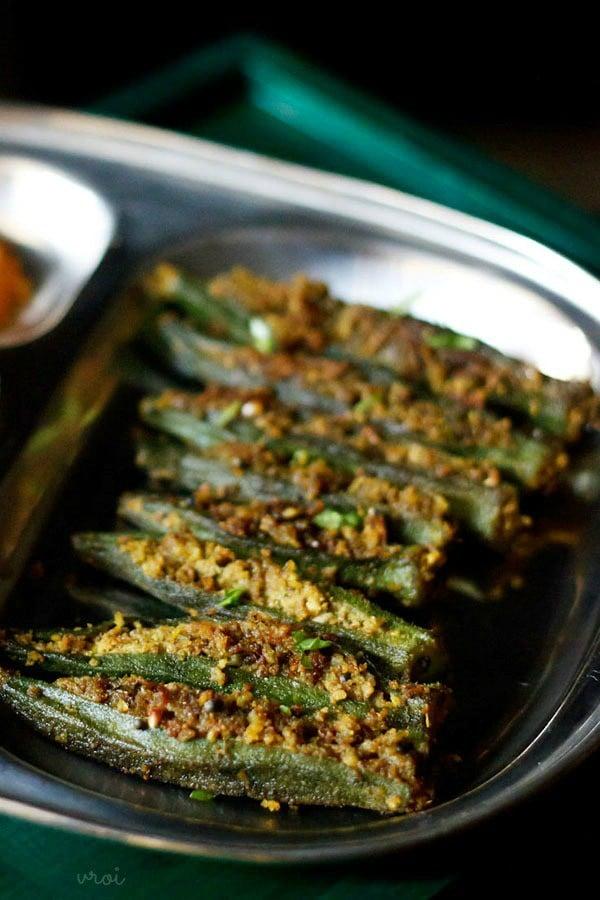 bharli bhendi stuffed okra