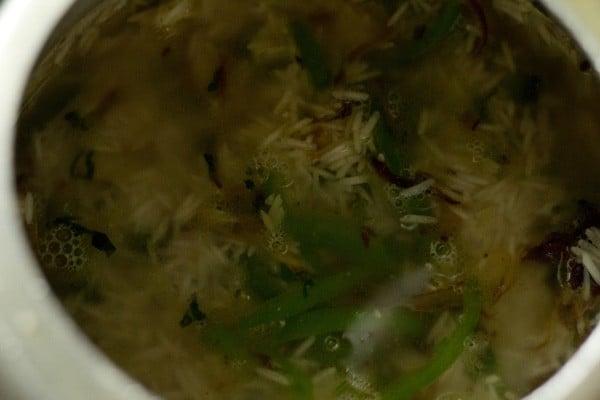 water for capsicum rice recipe