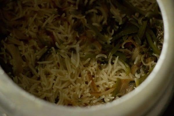 making capsicum rice recipe