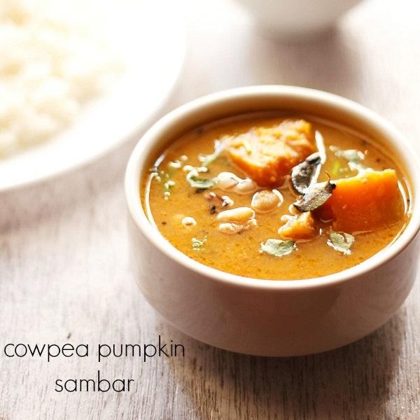 black eyed beans pumpkin sambar, lobia sambar, alasande sambar recipe