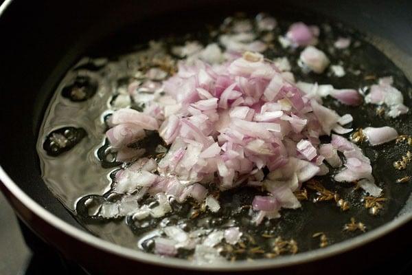 onions for making dahi aloo recipe