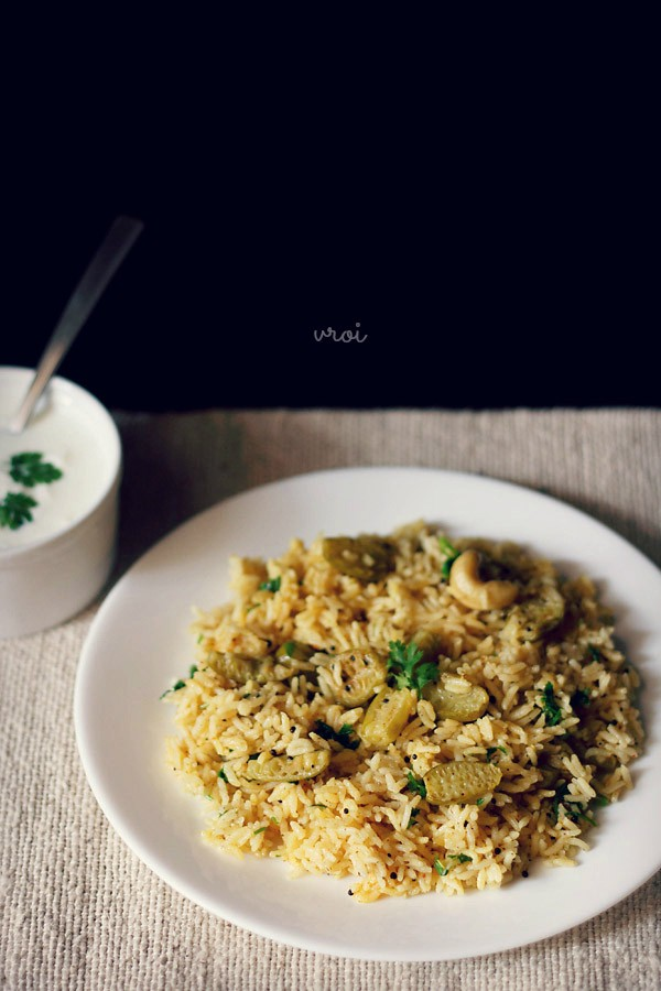 ivy gourd rice recipe