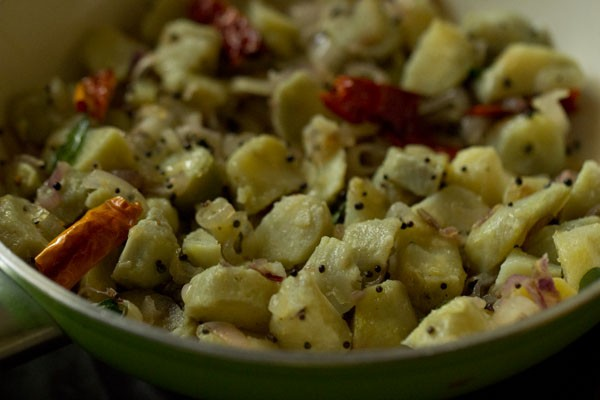 making koorka stir fry recipe