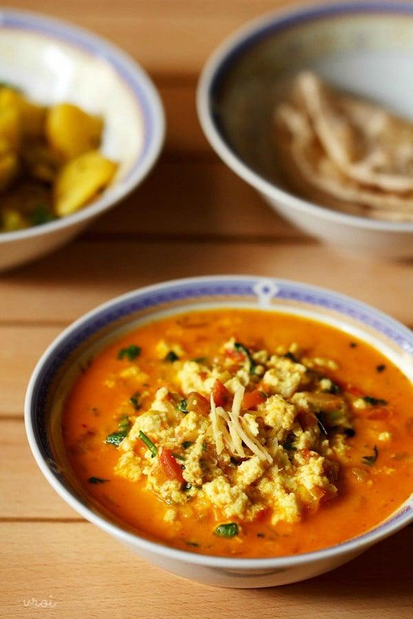 paneer bhurji gravy