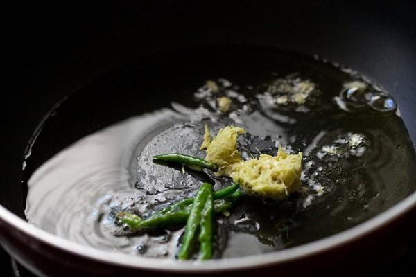 ginger for peshawari chole recipe