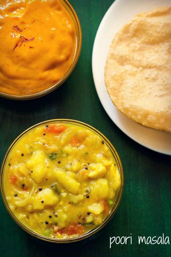 poori masala recipe, potato masala recipe for pooris and dosa