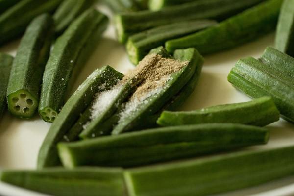 salt for bhindi curry recipe