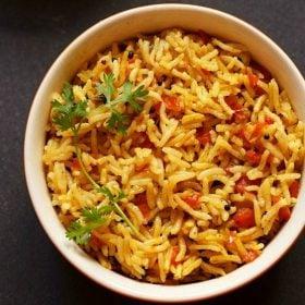 tomato rice recipe, thakkali sadam recipe