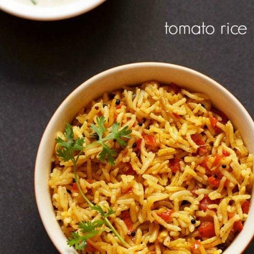 how to make tomato rice recipe in tamil