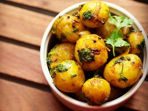 baby potato fry recipe, small potato fry recipe